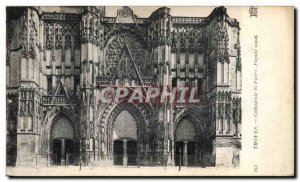 Postcard Old Troyes Cathedrale St Pierre West Facade