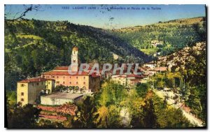 Old Postcard Laghet A M and The Monastery Road Turbie