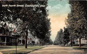 Ohio Postcard 1909 COSHOCTON South Fourth Street Homes