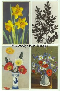 su2154 - Flowers - 4 postcards all shown