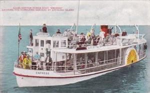 Glass Bottom Power Boat Empress At Submarine Gardens Catalina Island Calfornia