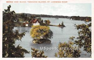 Bonnie View Island Thousand Islands NY Unused