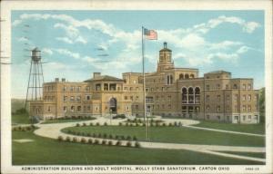 Canton OH Molly Stark Sanatorium c1920s Postcard