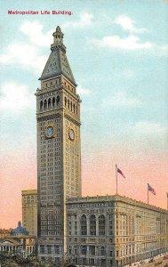 Metropolitan Life Building, New York, N.Y., Early Postcard, Unused