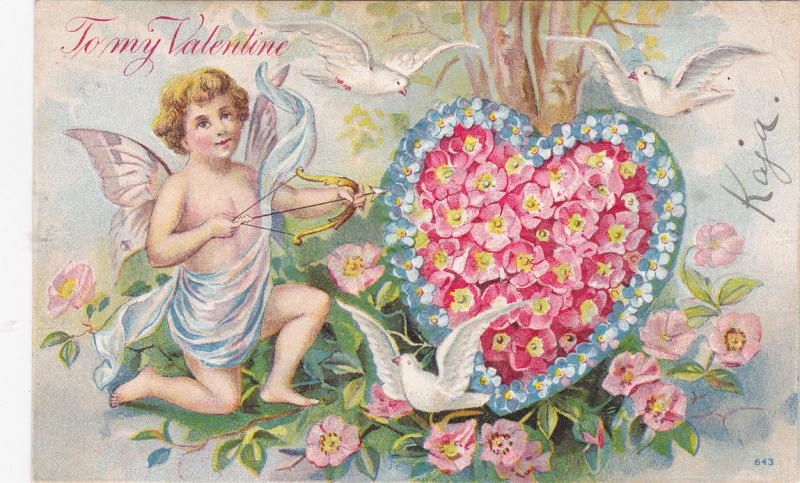 VALENTINE'S DAY; PU-1908; Angel With An Arrow, To My Valentine