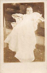 F45/ Interesting RPPC Postcard c1910 Freter Brothers Bridgeport Ohio Baby