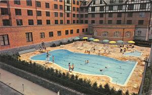 Roanoke Virginia~Hotel Roanoke & Motor Inn Swimming Pool Scene~1964 Postcard