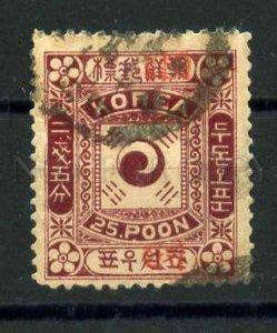 030596 IMPERIAL KOREA MICHEL #9IaI 1897 used RARE