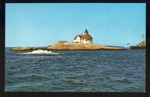 Boothbay Harbor,Maine/ME Postcard,Cuckold's Lighthouse/Light