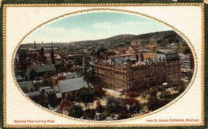 Canada Montreale General view Looking West from St James Cathedral Postcard