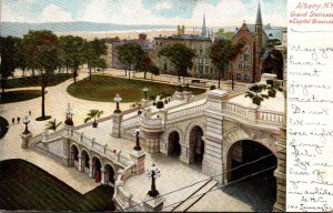 New York Albany Capitol Grounds and Grand Staircase 1905