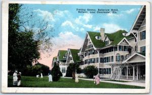 Belleair, Florida Postcard Putting Greens, BELLEVIEW HOTEL Golfing 1920 RPO