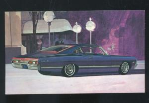 1967 CHEVROLET IMPALA SPORT COUPE SPRINGVILLE IOWA ADVERTISING POSTCARD 67 CHEVY