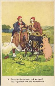 Clown Goose Pig Boar, Bike, Bicycle Mechanic (1940s) II