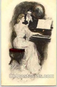 Artist Signed Clarence Underwood (USA) Series 303 writing on back light tab m...