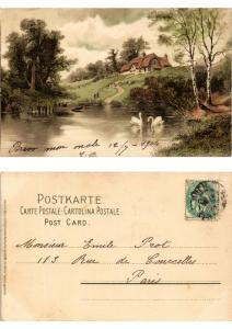 CPA Am Weiher Meissner & Buch Litho Serie 1189 (730416)