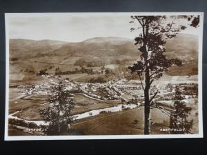 Perthshire PANORAMIC VIEW of ABERFELDY c1933 Old RP Postcard