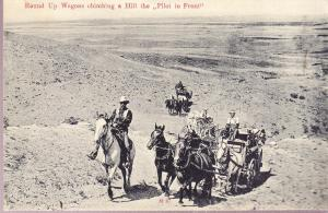 Round-Up Wagons Climbing a Hill the Pilot in Front
