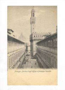 Portico Degli Uffizi e Palazzo Vecchio, Firenze (Tuscany), Italy, 1900-1910s