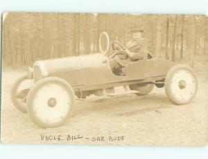 rppc Pre-1930 Automotive History MAN IN AN EXTREMELY OLD RACING CAR AC7796