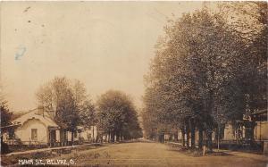 D15/ Belpre Ohio Postcard Real Photo RPPC 1912 Main Street Homes Marietta