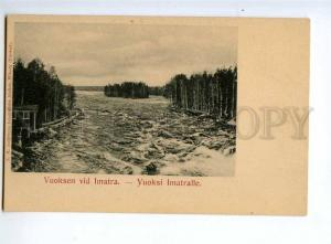 236263 FINLAND RUSSIA IMATRA Vuoksa river Vintage postcard