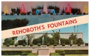 Postcard - Rehoboth's Beautiful Fountains, Rehoboth, Delaware
