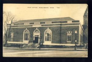 Middleboro, Mass/MA Postcard, Post Office, 1947.