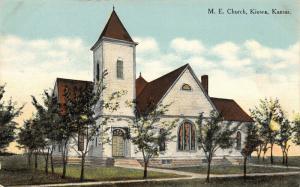 Kiowa Kansas~Methodist Episcopal ME Church~1913 Postcard