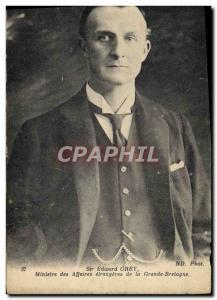 Postcard Old Sir Edward Gray Foreign Minister of Great Britain