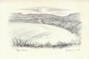 Wales Postcard - Nefyn Sands - Caernarvonshire - Pencil Etch - Ref 18976A