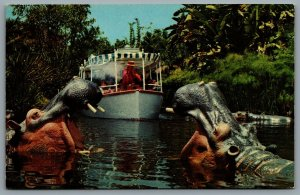 Postcard Anaheim CA c1960s Disneyland Jungle Cruise Adventureland 010277