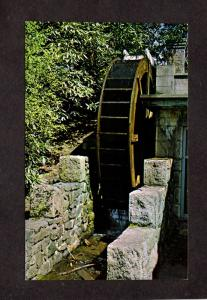 NJ Water Wheel Ringwood Manor State Park Passaic Ct New Jersey Postcard