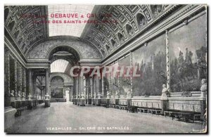 Postcard Old Versailles Gallery Of Battles