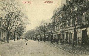 denmark, HJØRRING, Østergade (1909) Postcard