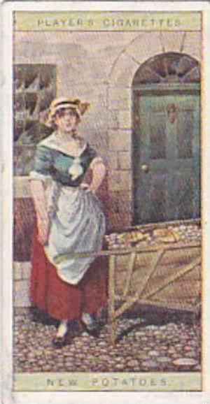 player Vintage Cigarette Card Cries Of London No 2 New Potatoes  1916
