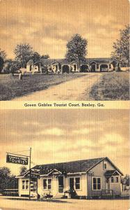 Baxley GA Green Gables Tourist Court on U. S. 1 Postcard