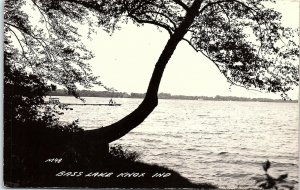 RPPC IN Knox Bass Lake Tree Pier Real Photo Postcard BH