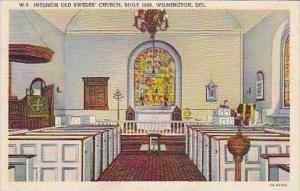 Delaware Wilmington Interior Old Swedes Church Built 1698 Curteich
