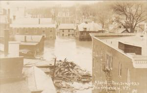 Vermont Montpelier Flood Scene November 1923 Real Photo