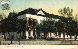 Capitol at Pierre, South Dakota, SD, Divided Back Vintage Postcard g9035