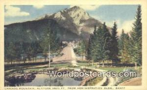 Canada Banff Cascade Mountain
