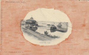 TRAVERSE CITY , Michigan, 1900-10s ; Wequetong Club , Railroad Tracks