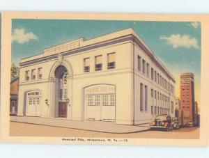 Unused Linen MUNICIPAL BUILDING Morgantown West Virginia WV G1023