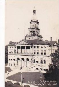 Michigan Hillsdale County Court House 1951 Real Photo RPPC