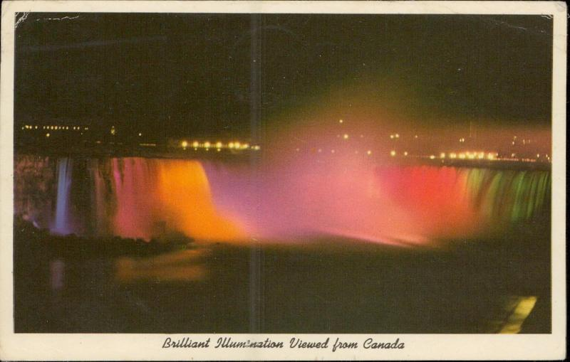 Brilliant Illumination viewed from Canada Niagara Falls Canada