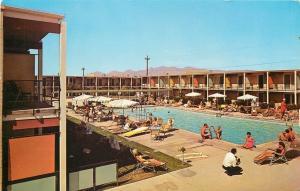 Tucson Arizona~Sands Hotel on Congress Street~Poolside 1950s Postcard