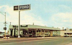Vallejo CA Wilson-Russell Ford Sales Dealership Postcard