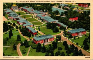 North Carolina Durham Duke Universiity Aerial VIew Of Women's College Ca...