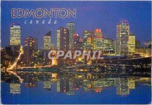 Postcard Modern Edmonton Alberta Canada has the city skyline cosmopolitan loo...